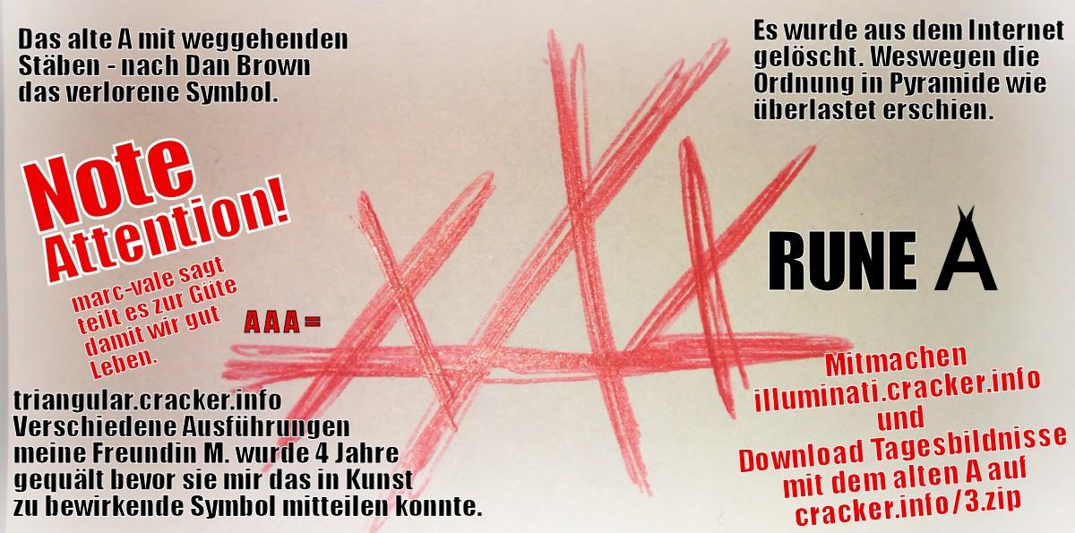 Altes A - Triangular - Vieleck - Rune XXX AAA